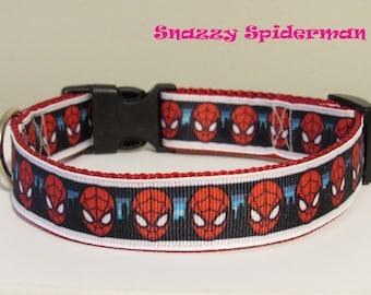 Snazzy Spiderman Dog Collar