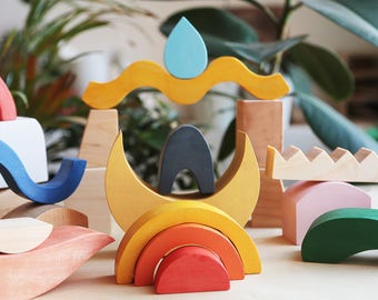 Wooden blocks, Wooden toy, Waldorf toy, Wooden blocks waldorf, Waldorf blocks