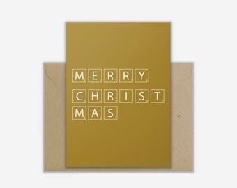 Greeting Card 'SCRABBLE CHRISTMAS'