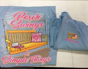 Sassy Frass porch swings tee shirt new