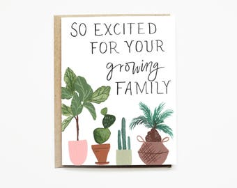 New Parents Card, Baby Shower Card, Adoption Card