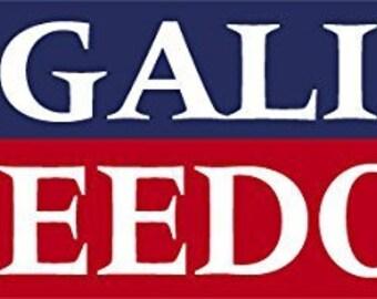LEGALIZE FREEDOM Bumper Sticker (libertarian rand paul decal)