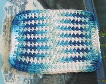 Hand crochet cotton dish cloth 6.5 by 6.5 cdc 127
