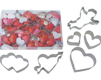 Valentine's Day 6 Piece Cookie Cutter Set - 1964