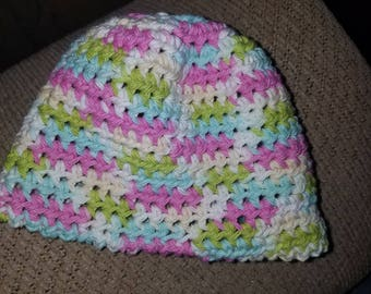 Cotton crochet beanie. Kids size