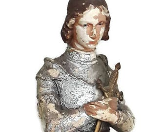 Rare statue Joan of Arc - Vintage - Object of collection - France