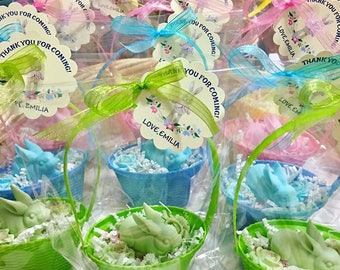 Rabbit Soaps Party Favors/ Kids Favors/ Birthday Party/Girls / Boys/ Handmade Soap/ Party Favors
