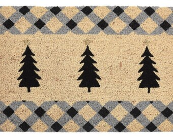 Christmas tree doormat 40x60 cm