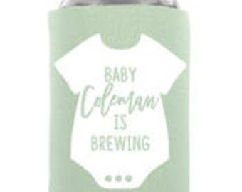 A Baby Is Brewing Baby Shower Can Cooler