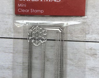 Clear Stamp Christmas Tag