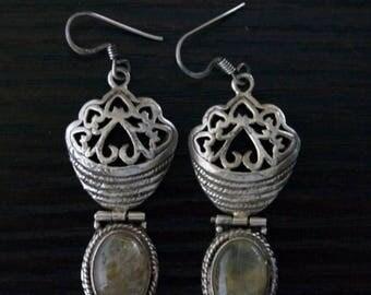 ON SALE Beautiful RUTILATED Quartz Silver Earrings