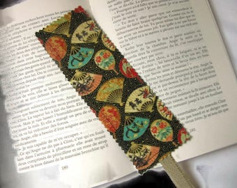 bookmarks, bookmark in Japanese fans, black multicolor