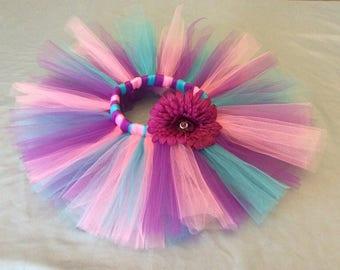 Birthday Tutu - Purple - Turquoise - Pink - Tutu Skirt - Photo shoot - Dress up - Birtday Outfit