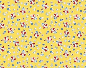 Toy Bo Peep on Yellow Background - Riley Blake Fabrics - Reproduction 1930s - Sold by the Half Yard