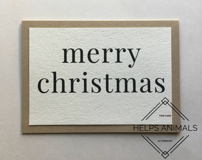 Christmas Card | Rustic Christmas Card | Merry Christmas | Simple Christmas Card