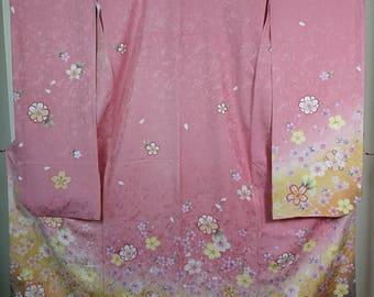Sakura Furisode Traditional Japanese kimono