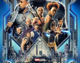 """Black Panther ( 11"""" x 17"""" ) Movie Collector's Poster Print"""