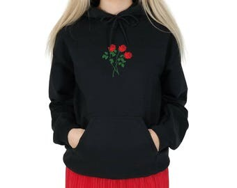 Rose Bunch Hoody Hoodie Top Fashion Blogger Summer Grunge