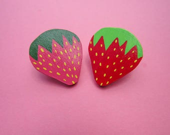 Summer Strawberry Pins