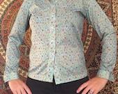 Womans vintage retro blouse shirt