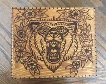 Cute Woodburned Box