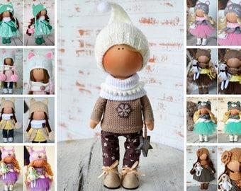 New Year Doll Winter Doll Christmas Doll Vinter Fabric Doll Zimy Inverno Tilda Doll Poupée Hivers Rag Doll Muñecas White Boy Doll by Olga S
