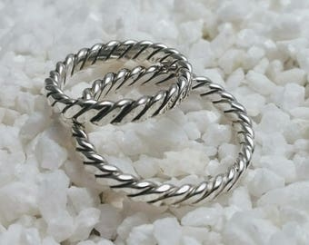 Celtic/ Viking ring, silver, handmade - mm size