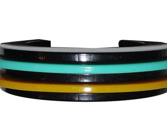 Bill Schiffer Retro Multi Colored Cuff Bracelet