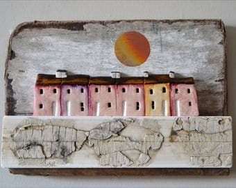 Little Houses Mixed Media No 163AS