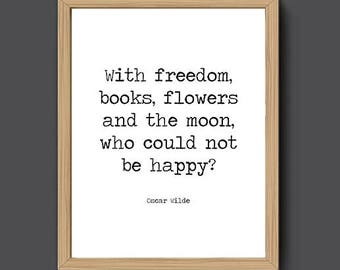 Oscar Wilde Printable Quote Books And Moon | Literary Print, Literary Gift,  Book Quote