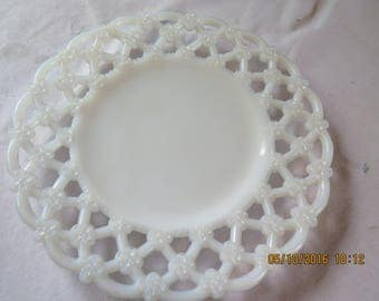 Westmoreland Milk Glass Forget Me Not Lattice