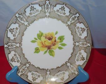Wiuterling Schuarzenbach Bavaria Yellow Rose Plate