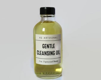 Gentle Face Cleansing Oil, Makeup Remover with Organic Oils