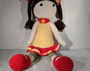 Amigurumi Girl Doll with Pigtails