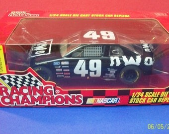 1997 NWO Wrestling Kyle Petty  #49 Racing Champions Black Monte Carlo SS NASCAR 1/24 Scale Diecast Stock Car New In Box Collectible Car