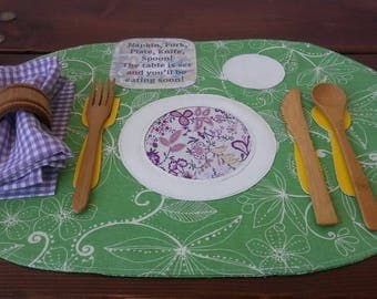 Placemat, Practical Life, Montessori