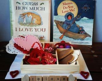 Valentine Loose Parts, Happy Valentine's Day, Montessori