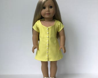 American Girl Doll Short sleeve dress with back lacing