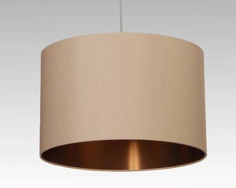 Lampshade D.40 cm, Copper with individual colour