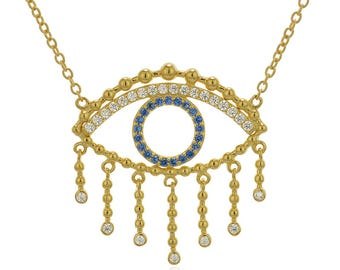 Eyelashes Evil Eye, Evil Eye Necklace, Evil Eye, Evil Eye Jewelry, Eye and Eyelash