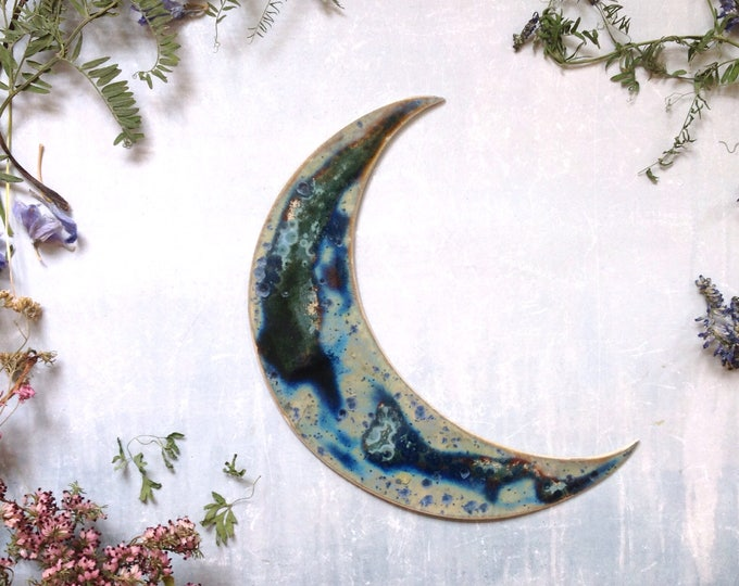 Featured listing image: Galaxy stoneware moon
