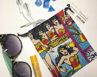 Wonder Woman Geek Sack - Drawstring Bag, Dice Bag, Gaming Bag, Change Purse, Bag for Stuff