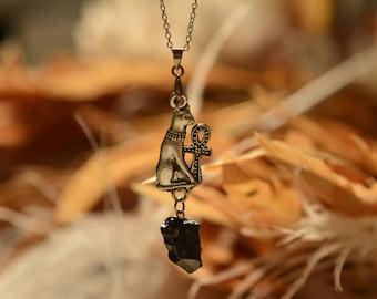 elite shungite egyptian bastet pendant silver plted chain