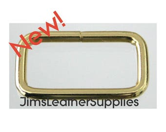 """1"""" wire loops 20 pack brass plated steel - also known as belt keepers 1"""" X 7/16"""" X 2.8mm (#1257)"""