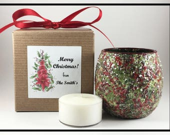 Employee Christmas Gifts Corporate Christmas Gifts, Corporate Holiday Gifts, Coworker Christmas Gifts, Employee Gifts Tealight Candle Holder