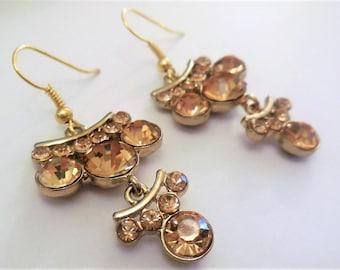 Vintage chandelier earrings   Etsy