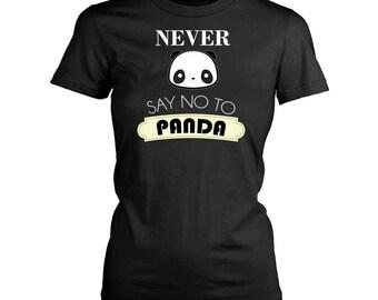 Panda womens fit T-Shirt. Funny Panda shirt.