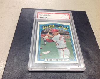 1972 Topps Ted Sizemore PSA graded NM 7