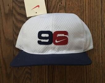 Vintage 90s Deadstock Nike Olympics 1996 Atlanta Snapback Hat Baseball Cap