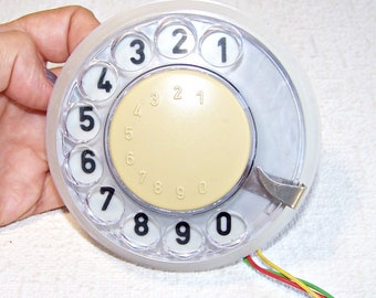 Vintage Rotary Phone Dialer. Old Dialing Disk Made in Czechoslovakia. Telephone Parts. Steampunk Supply. Wireman Gadget.